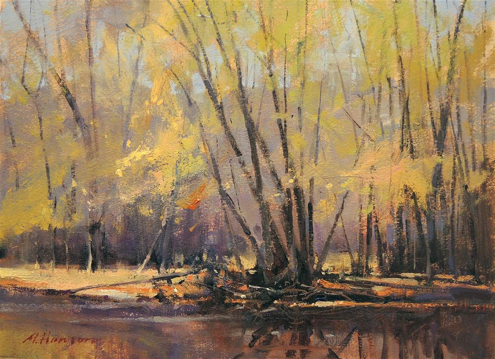 """Riverside Spring"" original fine art by Marc Hanson"