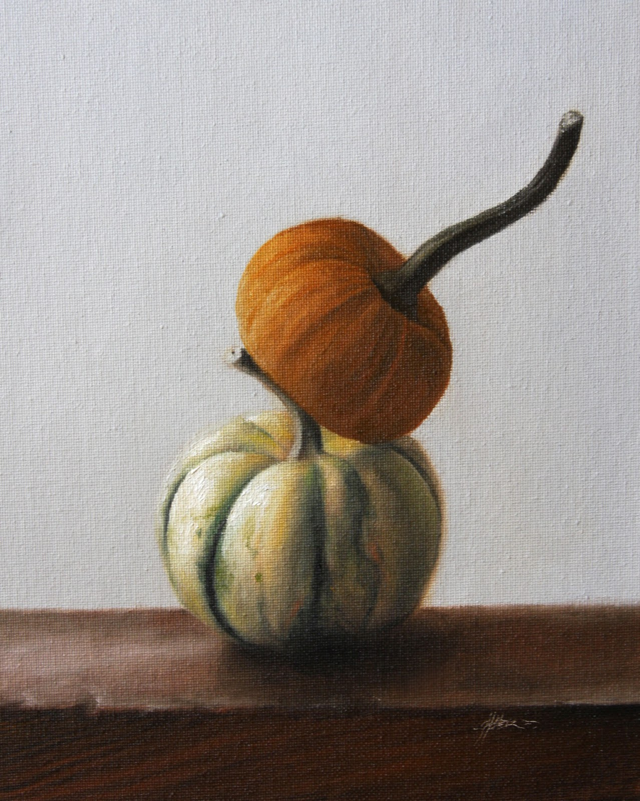 """Pumpkin on Top"" original fine art by Jonathan Aller"