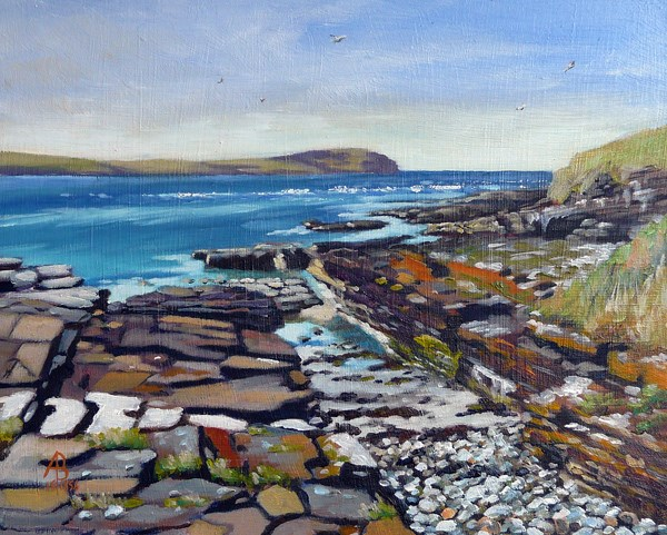 """Eynhallow Sound from Rousay, Orkney"" original fine art by Alix Baker"