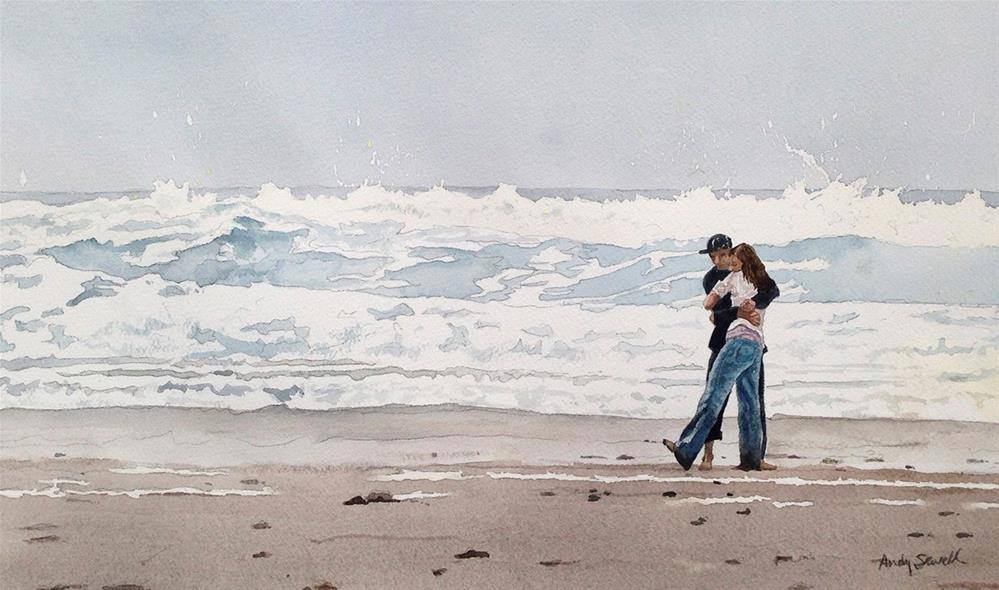 """Beach Hugs"" original fine art by Andy Sewell"