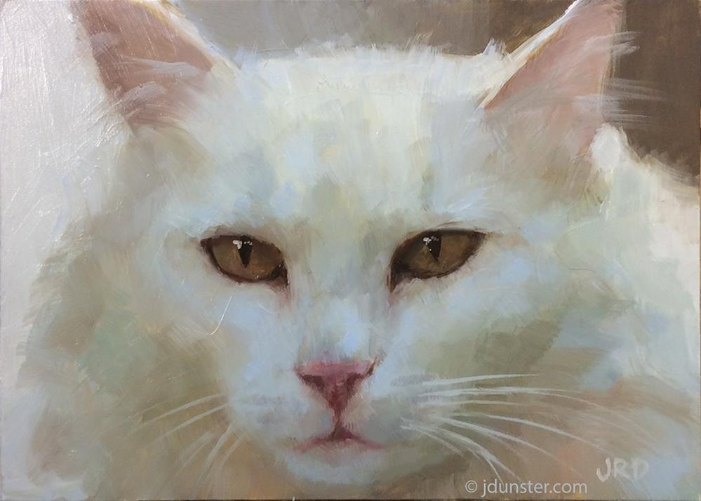 """White & Fluffy"" original fine art by J. Dunster"