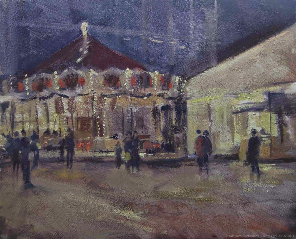 """Draaimolen. Doetinchem, The Netherlands"" original fine art by René PleinAir"