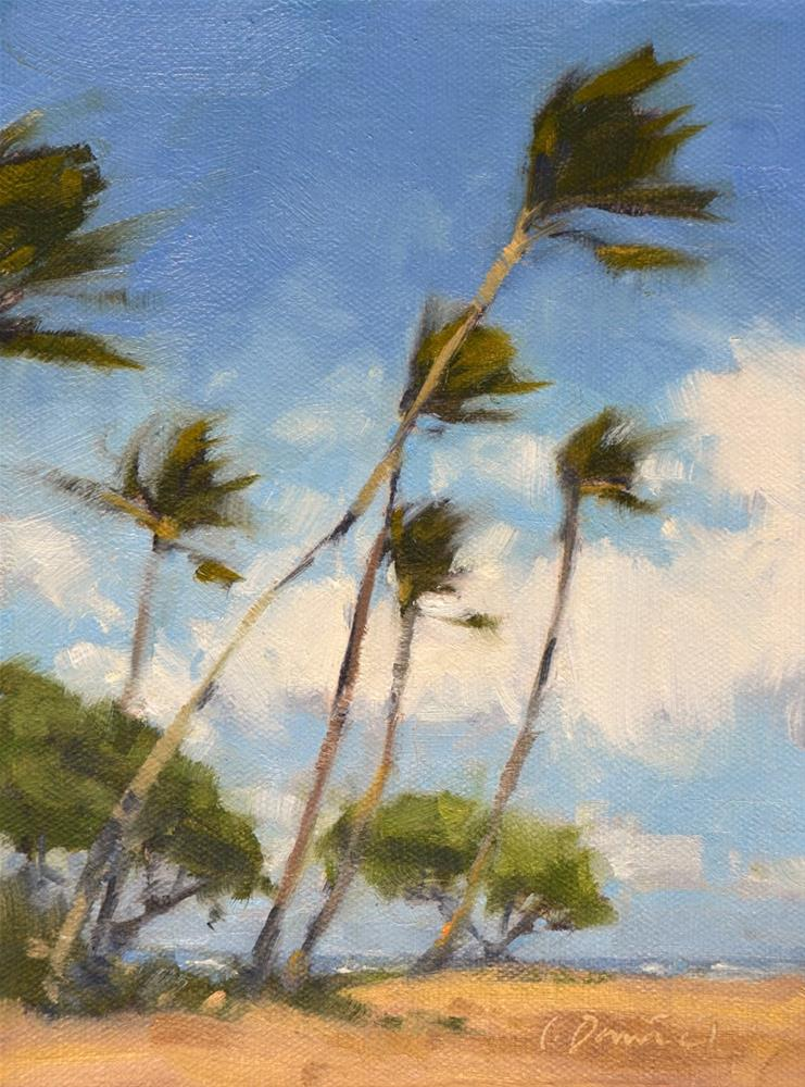 """Windblown - Tree Gesture 3"" original fine art by Laurel Daniel"