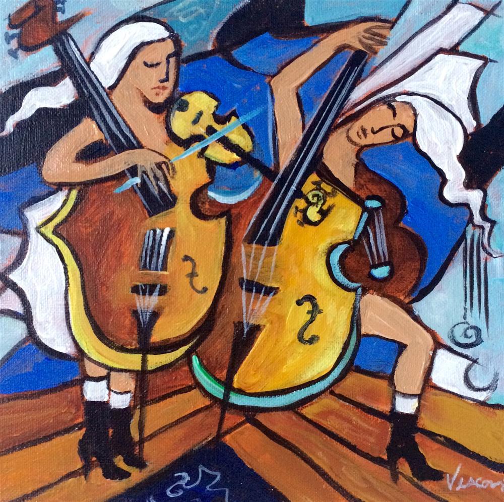 """Duet"" original fine art by Valerie Vescovi"
