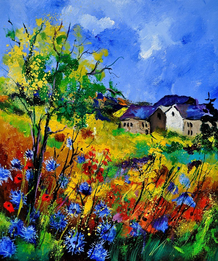 """summer 673180"" original fine art by Pol Ledent"