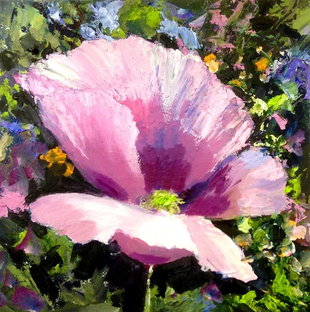 """Pink Poppy Pleasure"" original fine art by Cathy Boyd"