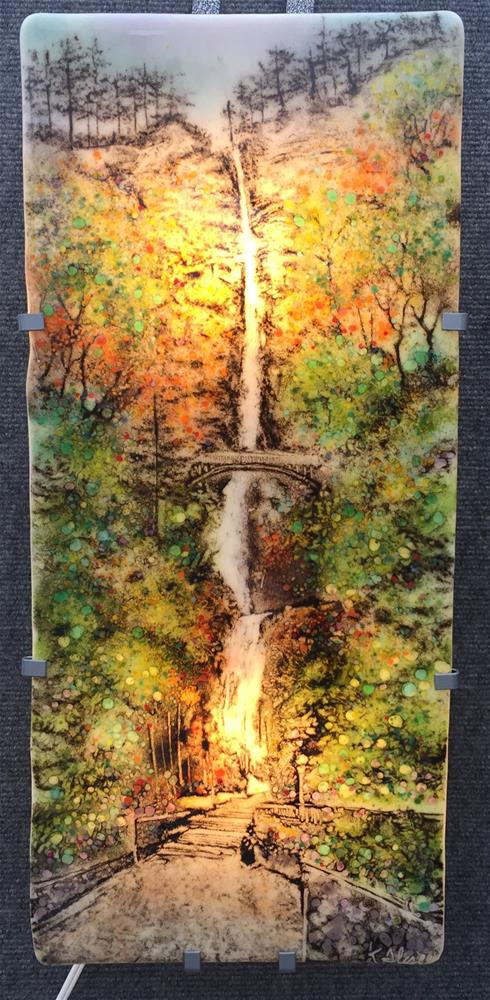 """Multnomah Falls"" original fine art by Kelly Alge"