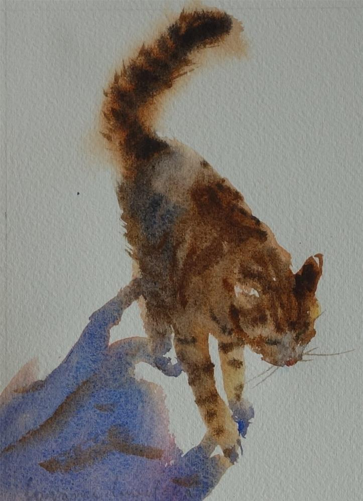 """Strolling Cat"" original fine art by Lorraine Lewitzka"