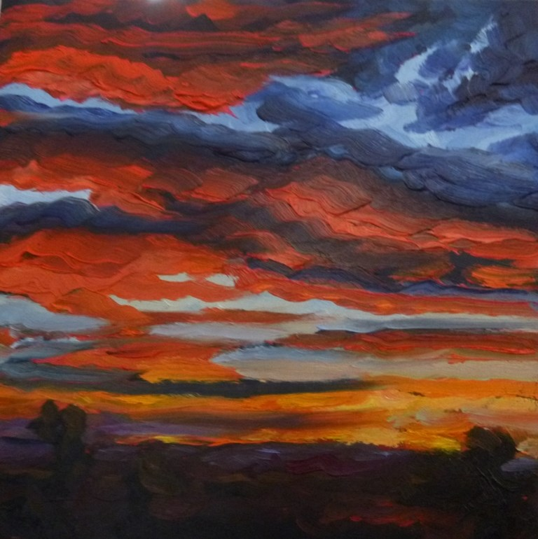 """73 SUNSET AT ELENA"" original fine art by Dee Sanchez"