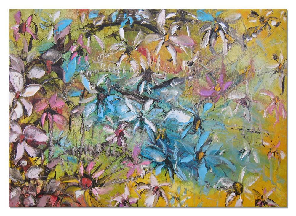 """""""Clematis"""" original fine art by Elena Lunetskaya"""