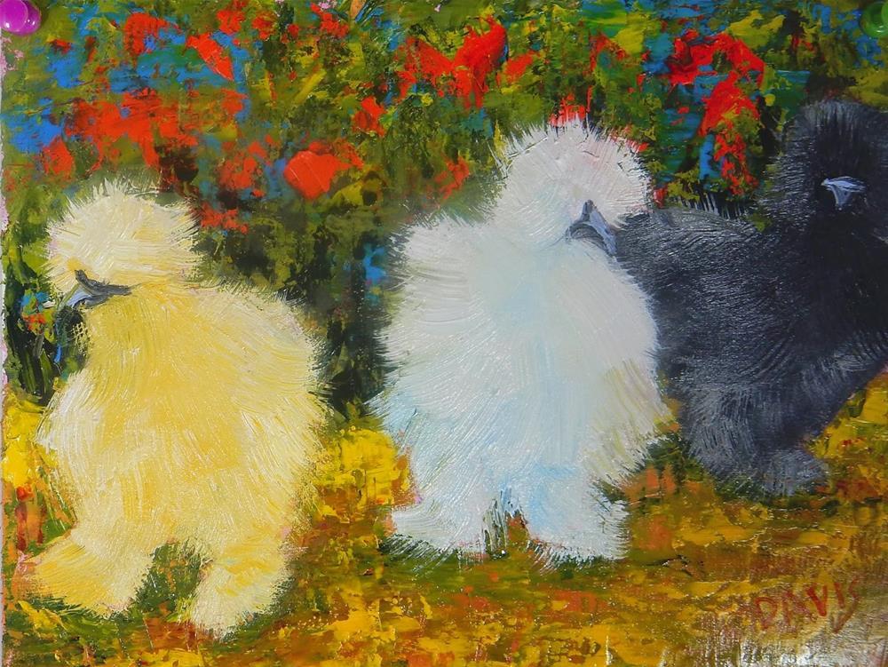 """A Walk in the Garden"" original fine art by Phyllis Davis"