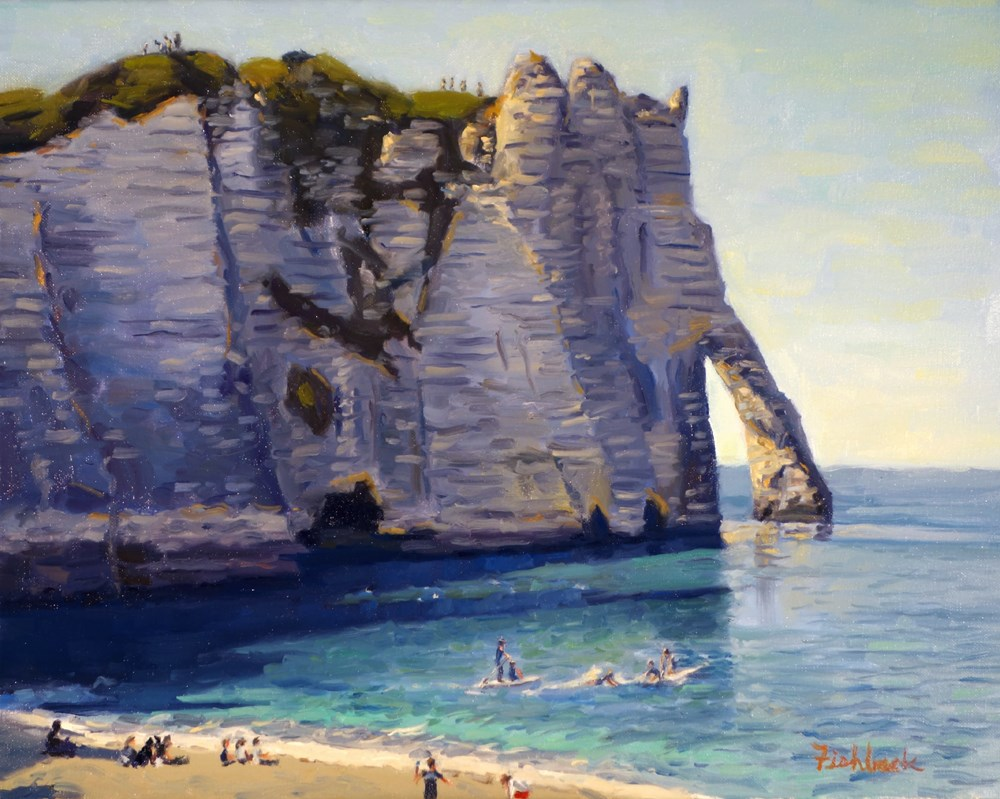 """Cliffs of Etretat France"" original fine art by Daniel Fishback"