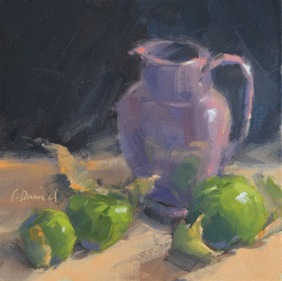 """Tomatillos - 13 of 30 in 30"" original fine art by Laurel Daniel"