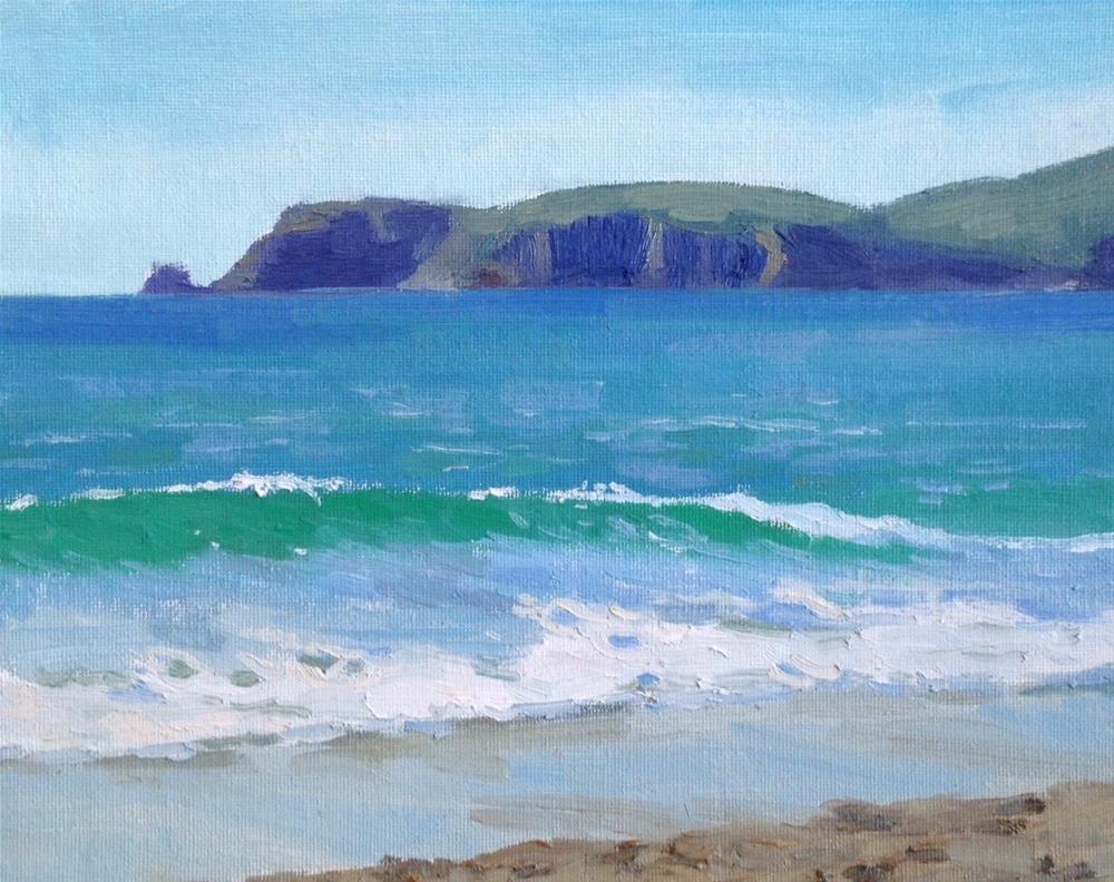 """Point Reyes Waves"" original fine art by Wendy Franklin"