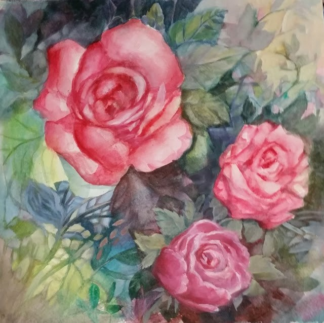 """My Rose Garden"" original fine art by Wendy Starita"