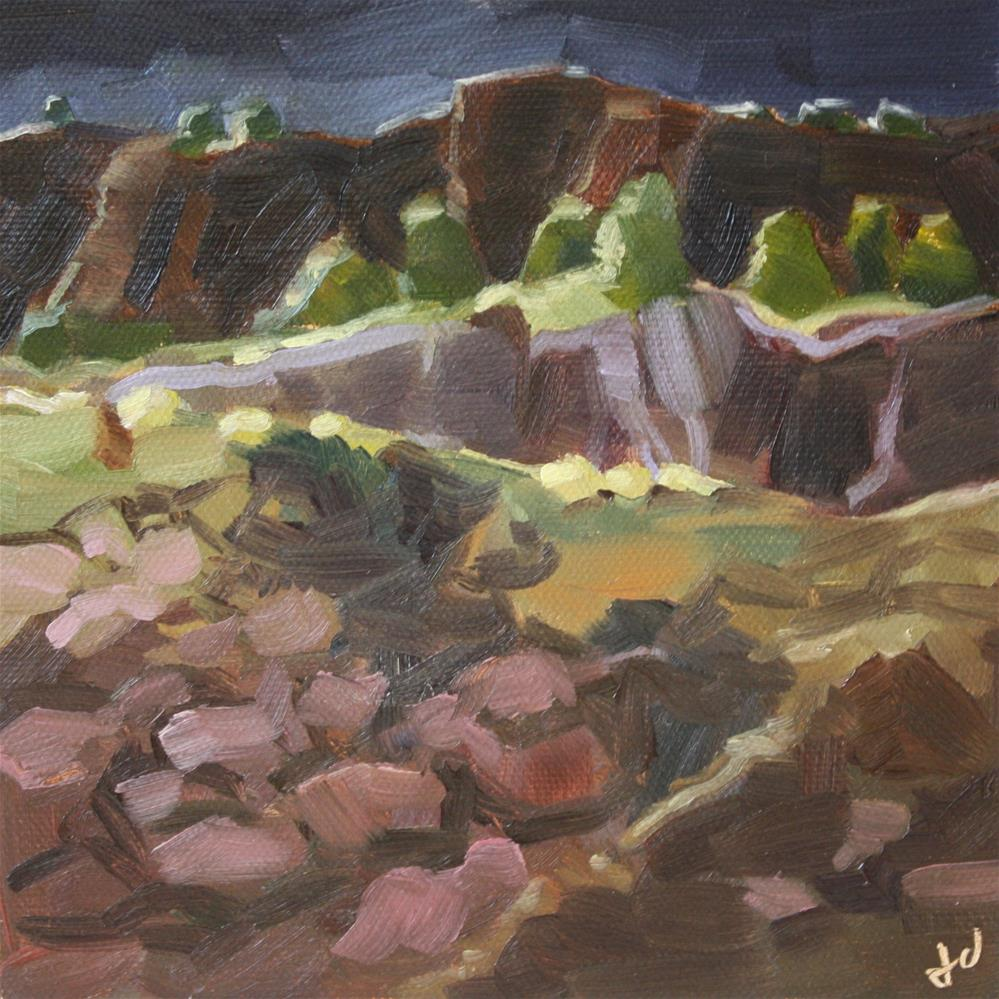 """Night Cliffs"" original fine art by Jessie Dodington"