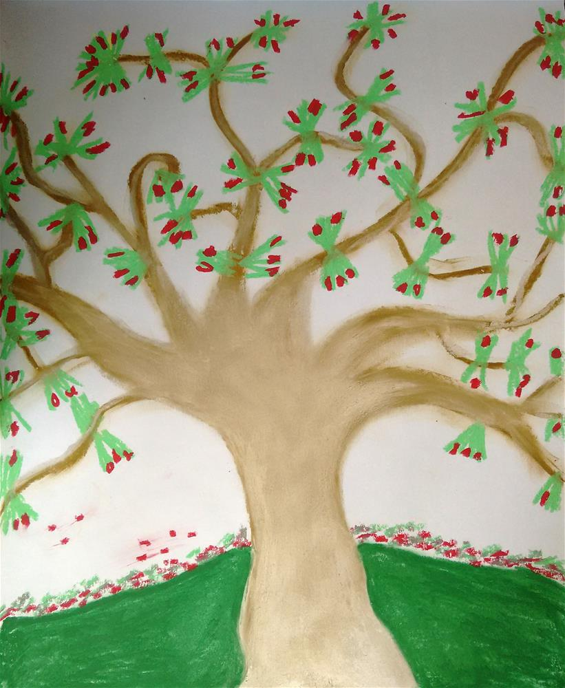 """Tree of Life"" original fine art by Adéla Svobodová"