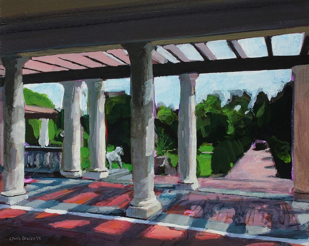 """Sonnenberg Gardens, The Belvedere"" original fine art by Chris  Breier"