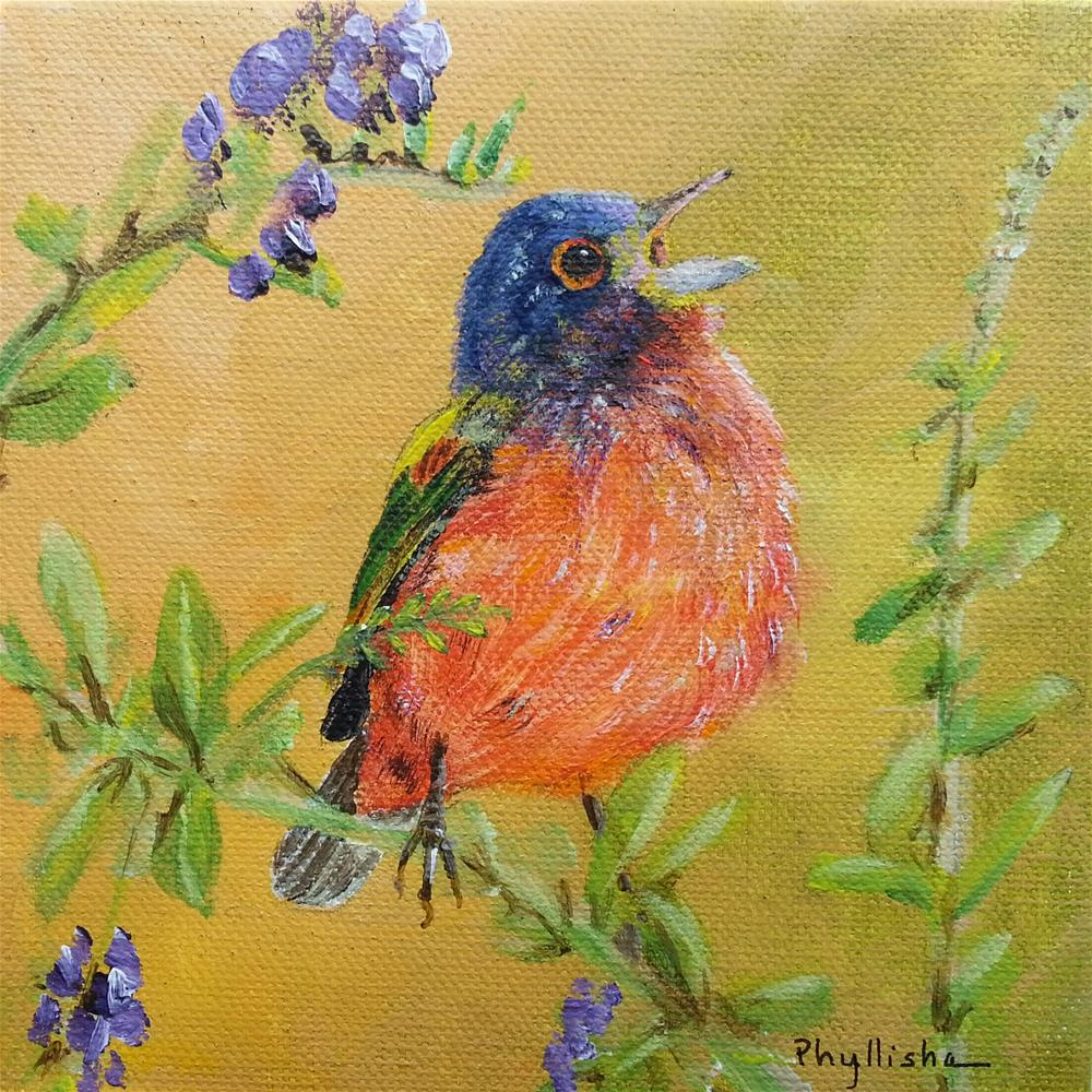 """Spring Herald"" original fine art by Phyllisha Hamrick"