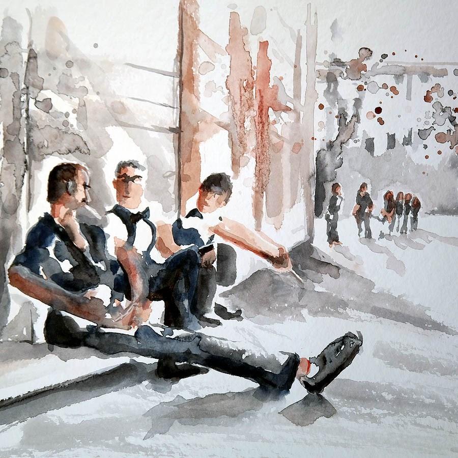 """""""1284 Sunday Sketches 4"""" original fine art by Dietmar Stiller"""