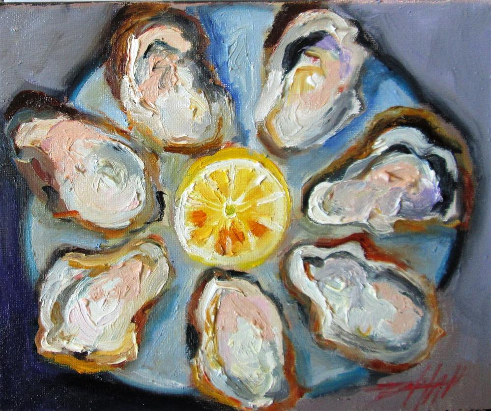 """""""Oysters"""" original fine art by Delilah Smith"""