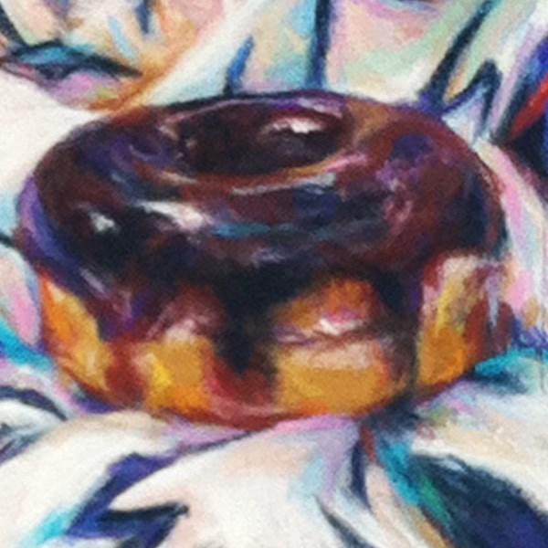 """ZIG-ZAGS- 4 1/2 x 4 1/2 donut pastel by Susan Roden"" original fine art by Susan Roden"