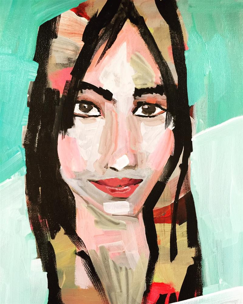 """134 Abstracted Kerry"" original fine art by Jenny Doh"