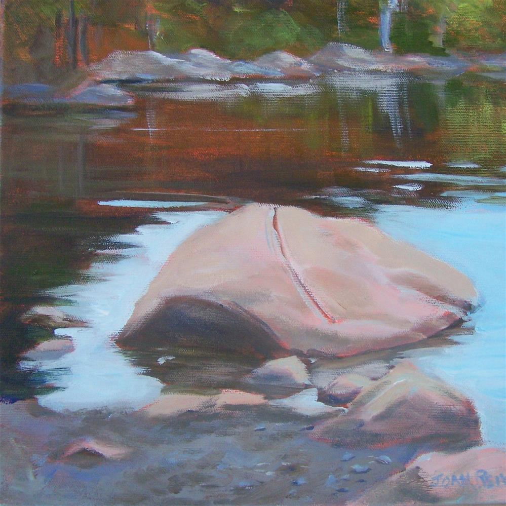 """Turtle Rock"" original fine art by Joan Reive"