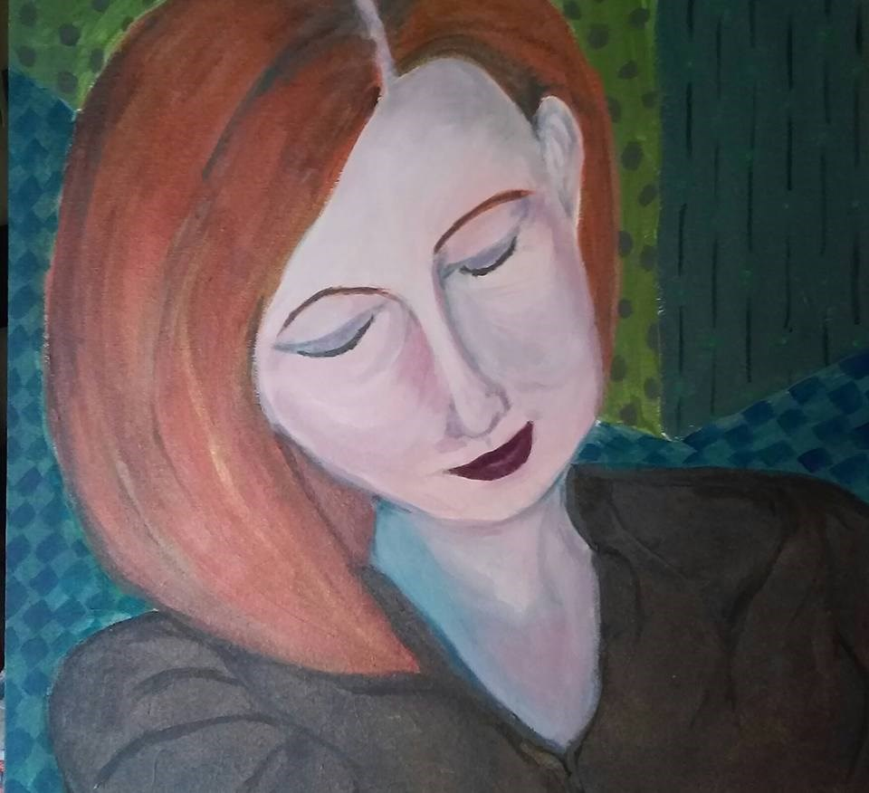 """Melanie"" original fine art by Hallie Dozier"