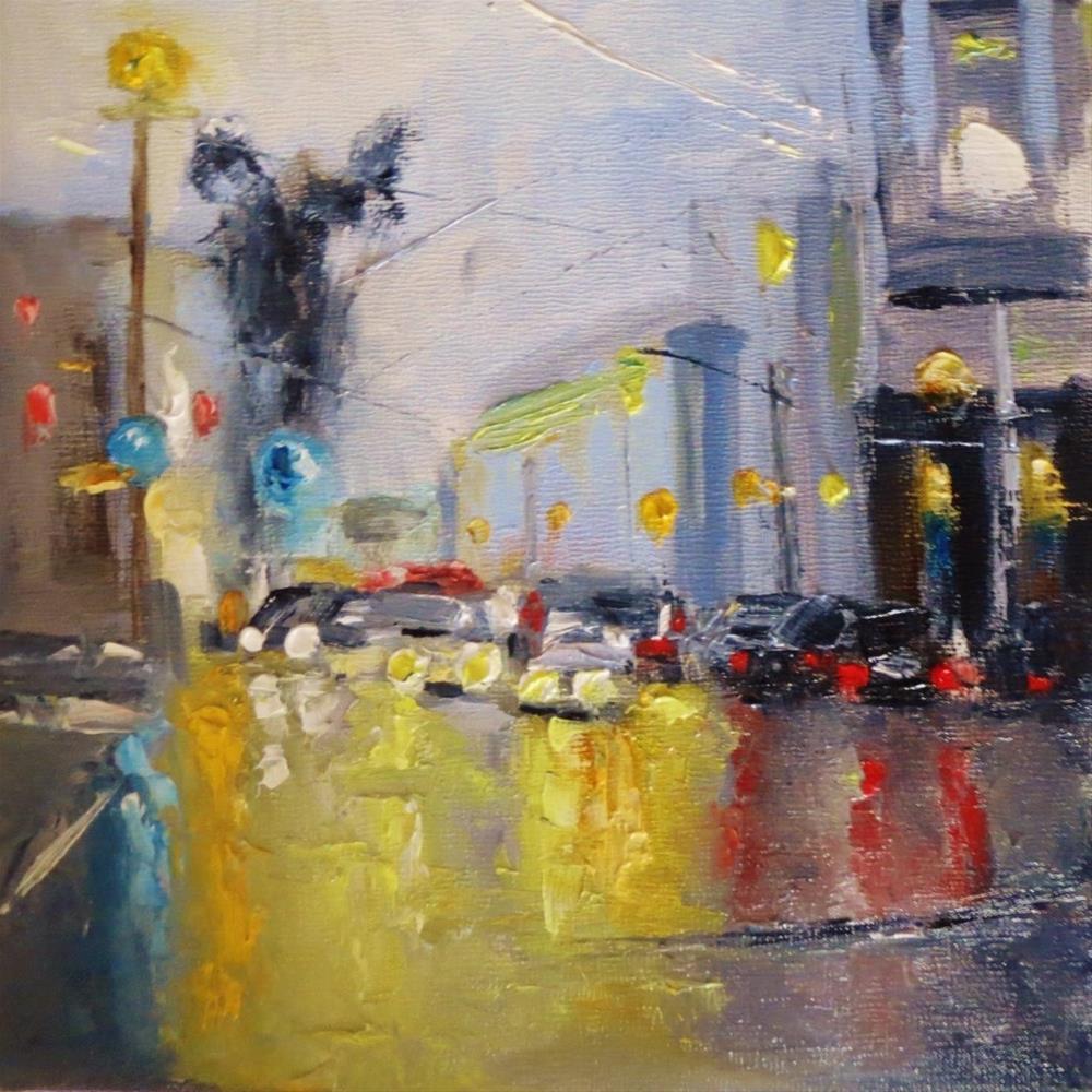 """Colored lights"" original fine art by Astrid Buchhammer"