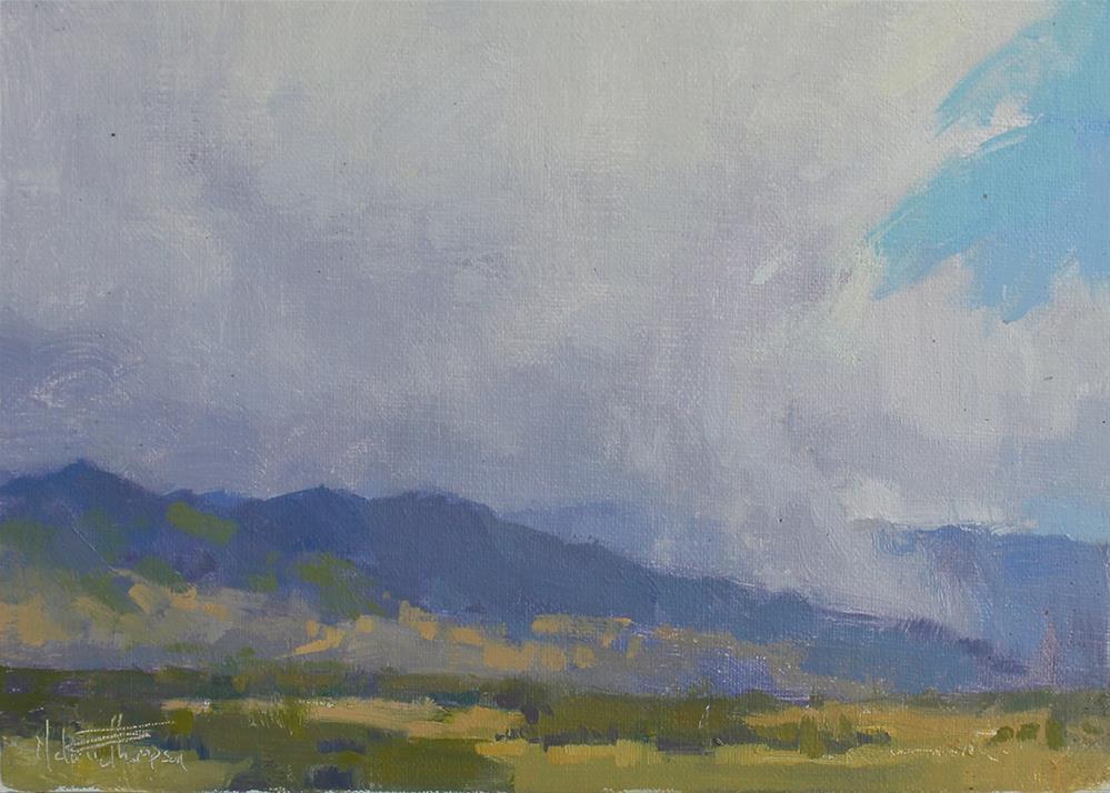 """Summer Squall"" original fine art by Melanie Thompson"