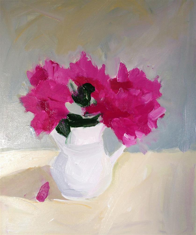"""""""Spring Peonies"""" original fine art by Pamela Munger"""