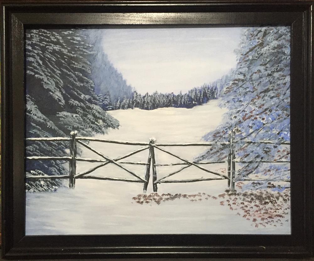 """The Gate of  Promise"" original fine art by Roger Johnson"
