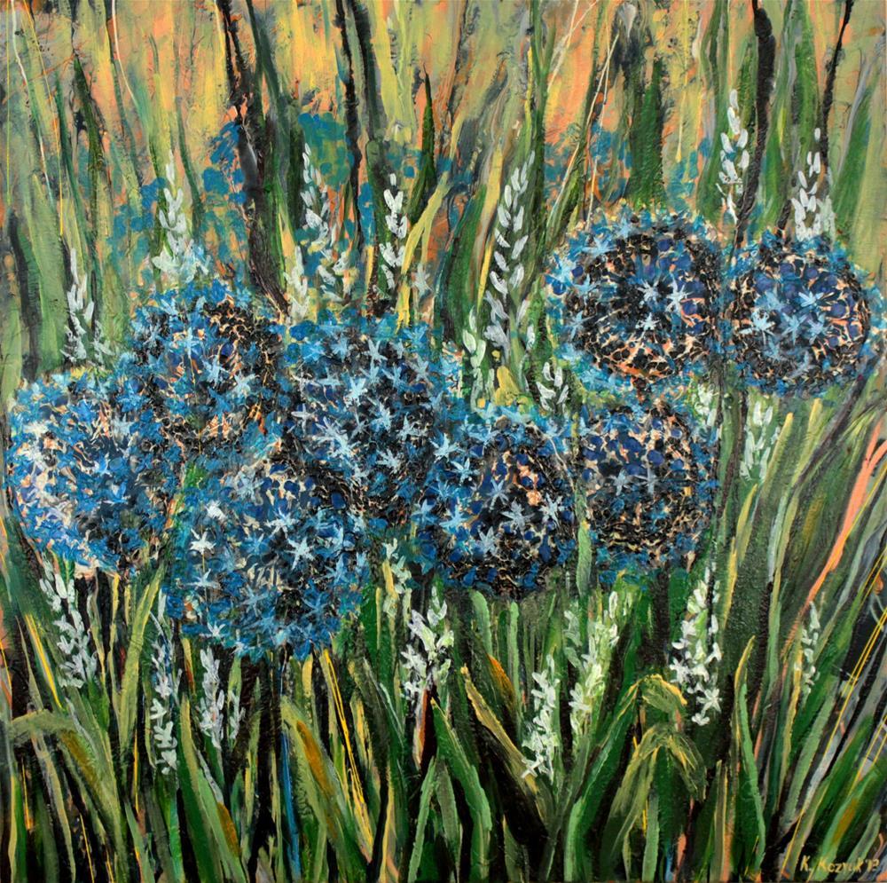 """""""Wildflowers"""" original fine art by Khrystyna Kozyuk"""