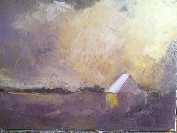 """purple sky"" original fine art by paul smith"