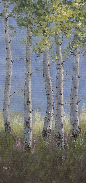 """Summer Aspens"" original fine art by Bonnie Bowne"