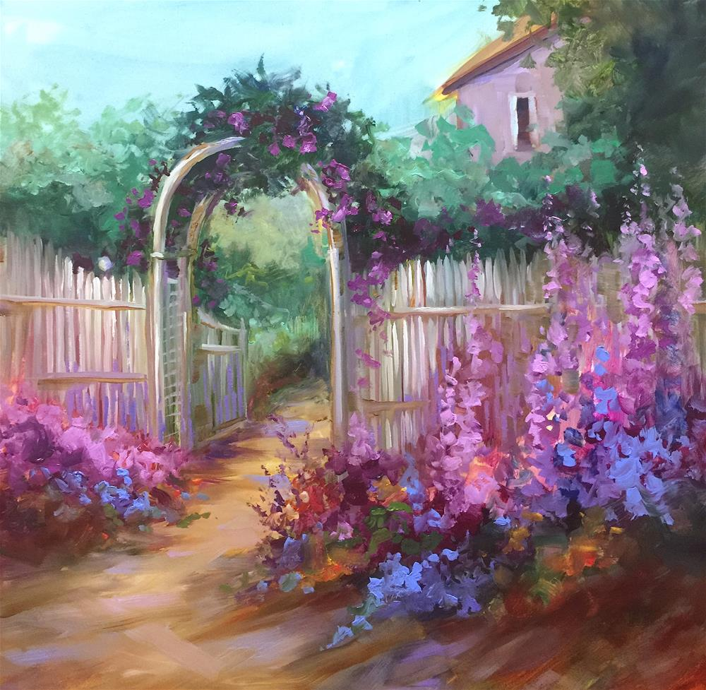 """Accidental Journey Flower Cottage"" original fine art by Nancy Medina"