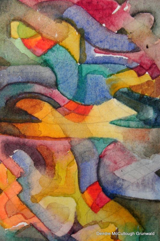 """Colorforms"" original fine art by Deirdre McCullough Grunwald"