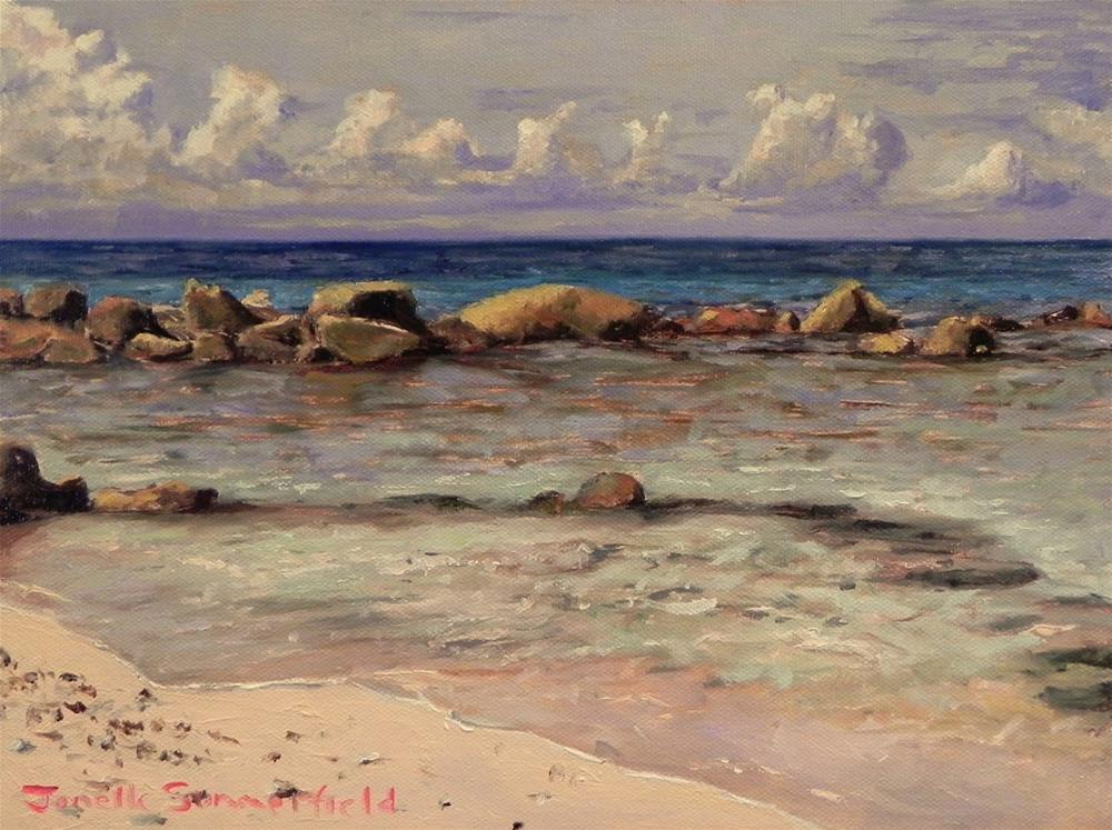 """A Beach in Curacao"" original fine art by Jonelle Summerfield"