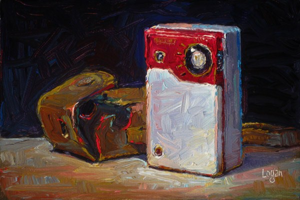 """Hitachi Transistor 6 Radio"" original fine art by Raymond Logan"