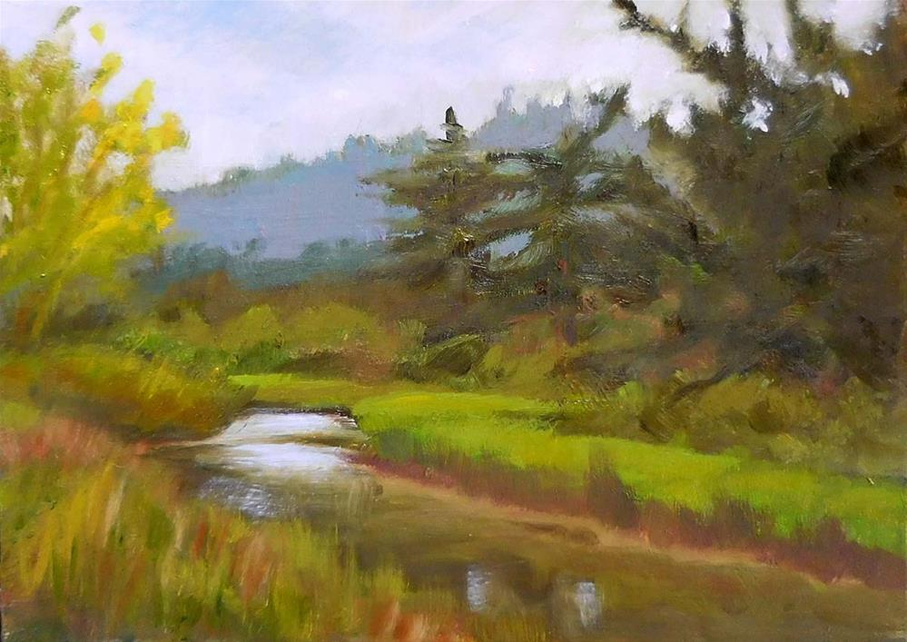 """Salmon Creek"" original fine art by Cietha Wilson"