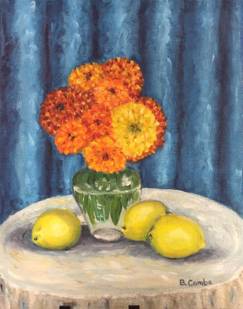 """Summer Flowers"" original fine art by Bebe Combs"