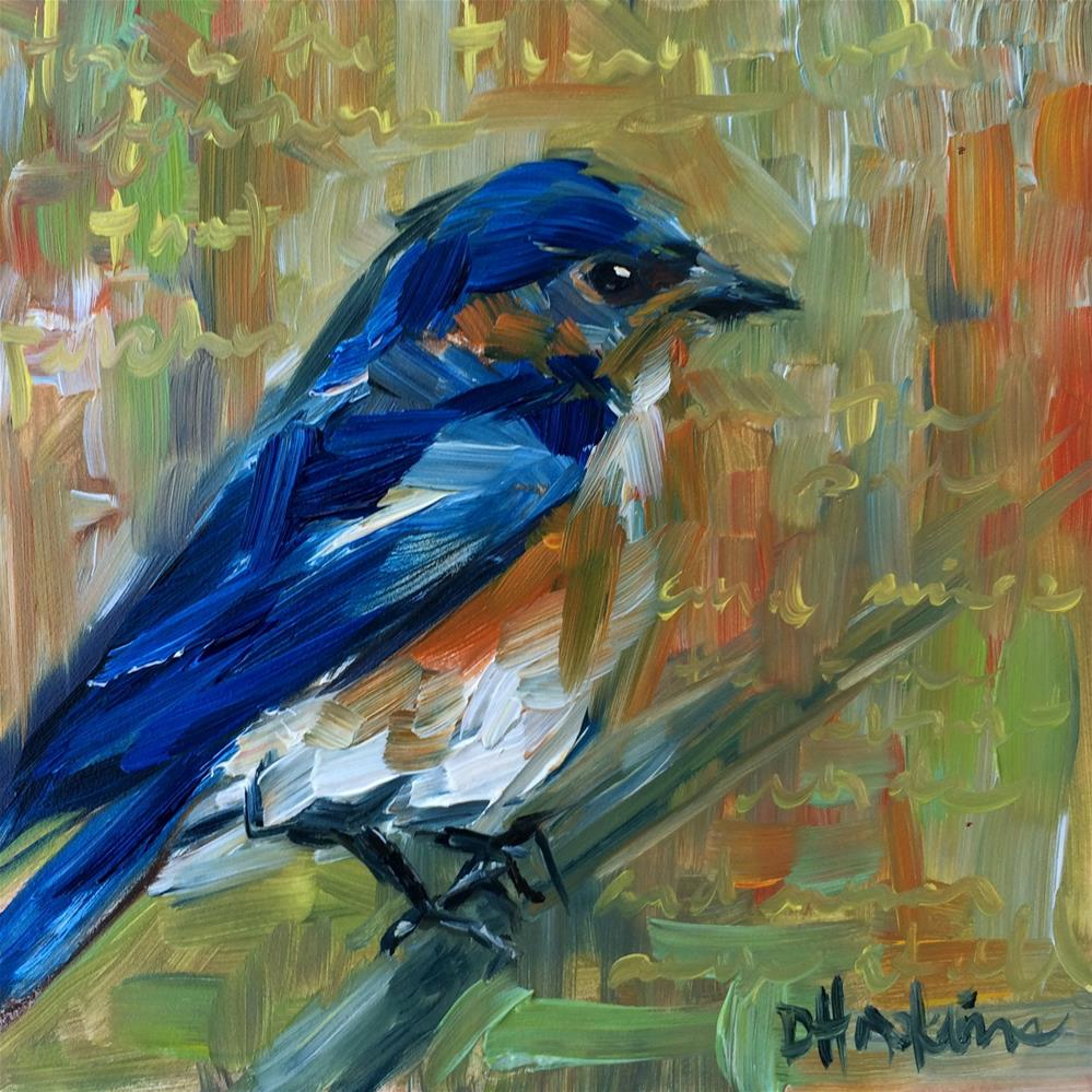 """""""Hope is the Thing with Feathers"""" original fine art by Denise Hopkins"""