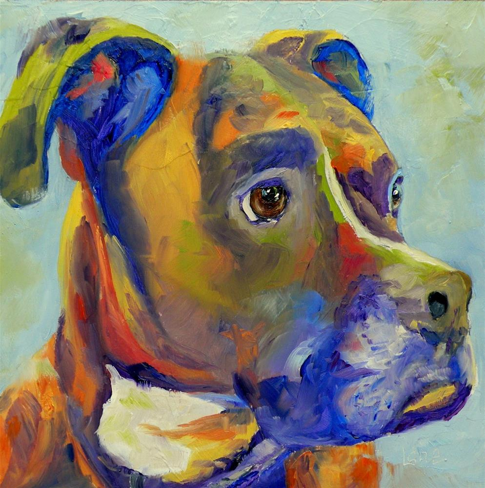 """LOLA 94/101 OF 101 PET PORTRAITS IN 101 DAYS © SAUNDRA LANE GALLOWAY"" original fine art by Saundra Lane Galloway"