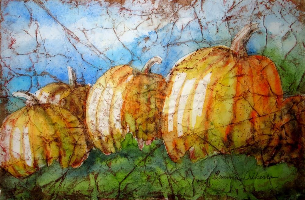 """Sunny Day Pumpkins"" original fine art by Tammie Dickerson"