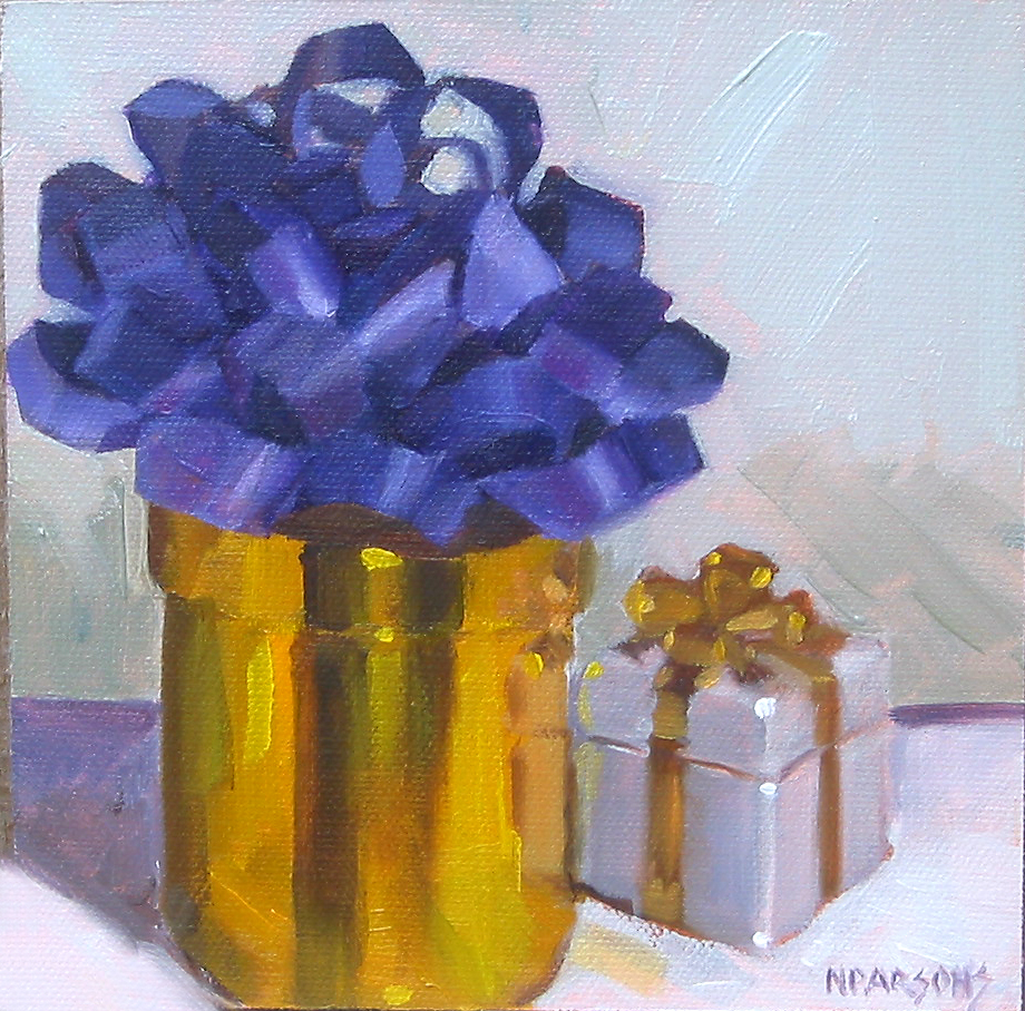 """No Present Like the Present"" original fine art by Nancy Parsons"