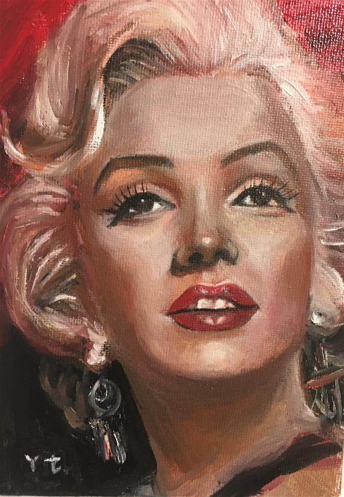 """Portrait of Marilyn Monroe 1"" original fine art by tian yin"