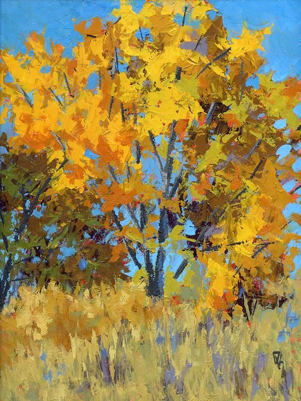 """Autumn Delight"" original fine art by David King"