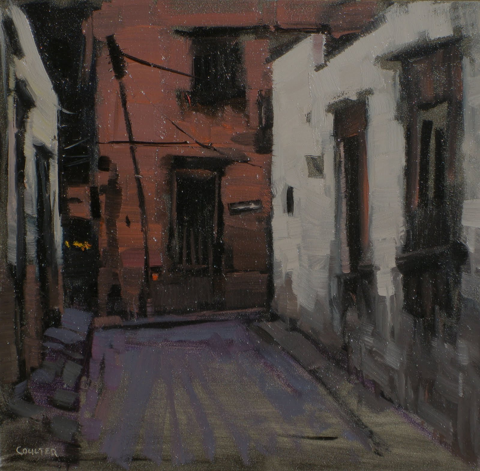 """THE DARK ALLEY"" original fine art by James Coulter"
