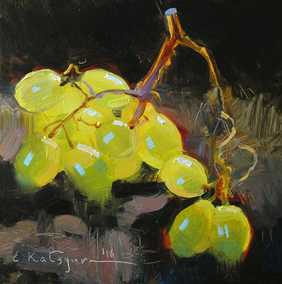 """Midday Grapes"" original fine art by Elena Katsyura"